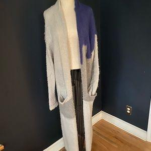 Leith long sweater maxi modern cardi xs/s coat
